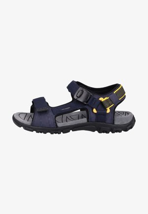 Walking sandals - navy/yellow