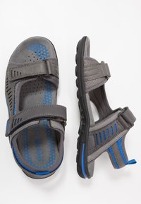 Geox - TEVERE - Sandalias de senderismo - grey/blue - 1