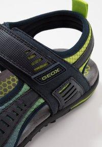 Geox - TEVERE - Sandalias de senderismo - navy/lime green - 5