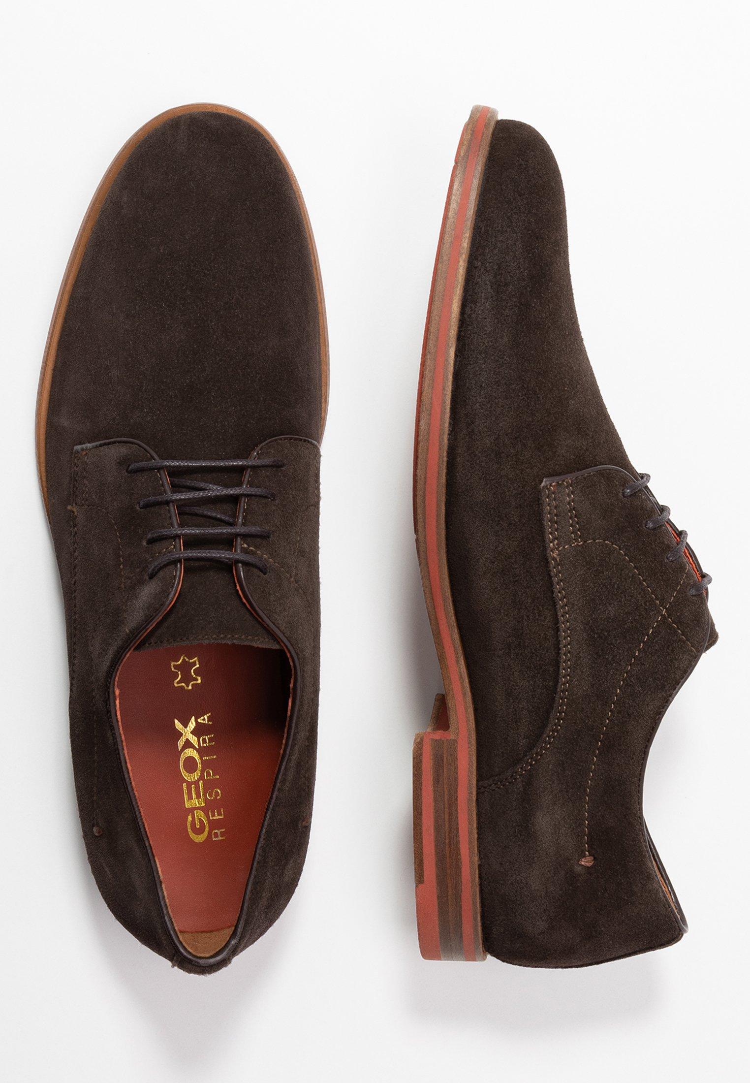 Geox BAYLE - Oksfordki - dark brown