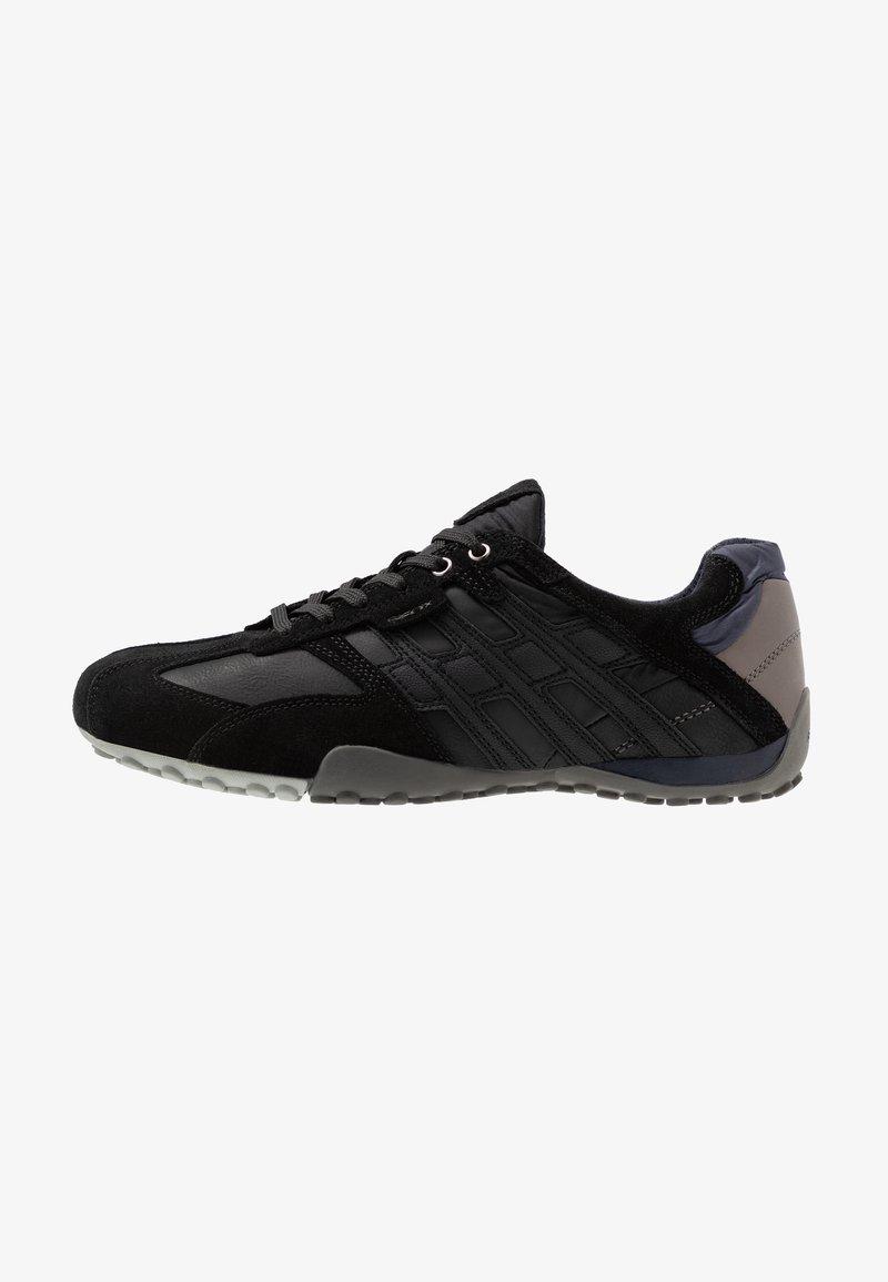 Geox - UOMO SNAKE - Sneaker low - black/dark avio