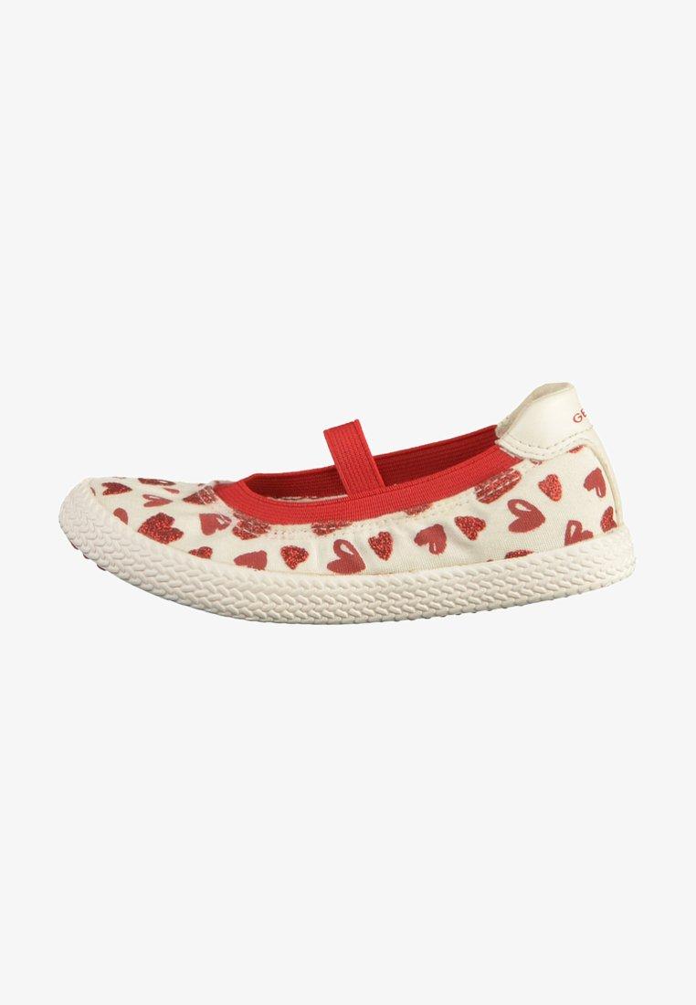 Geox - Ballet pumps - white/red