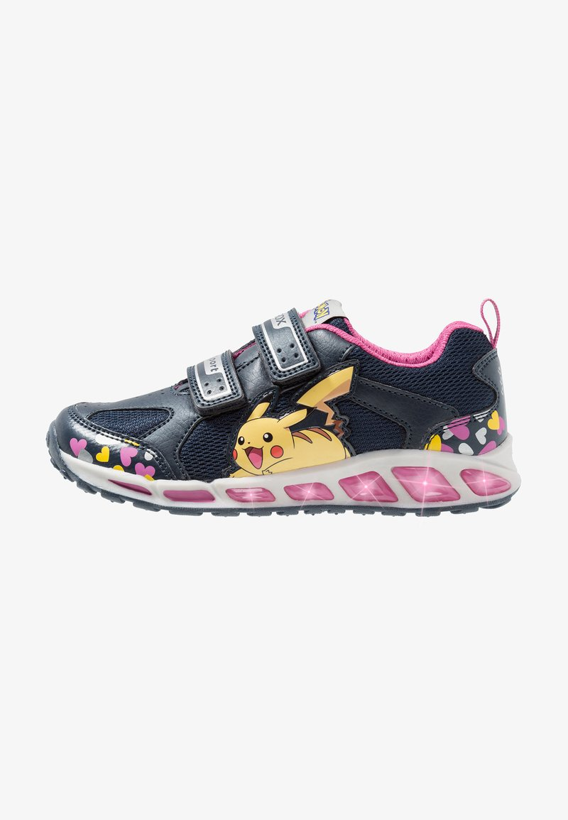 Geox - SHUTTLE GIRL - Zapatillas - navy/fuchsia