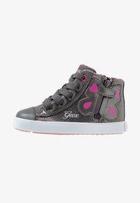 Geox - KILWI GIRLI - Sneakersy wysokie - dark grey - 0
