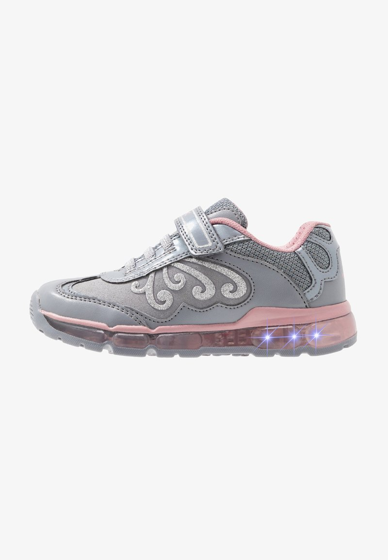 Geox - GIRL - Zapatillas - grey/pink