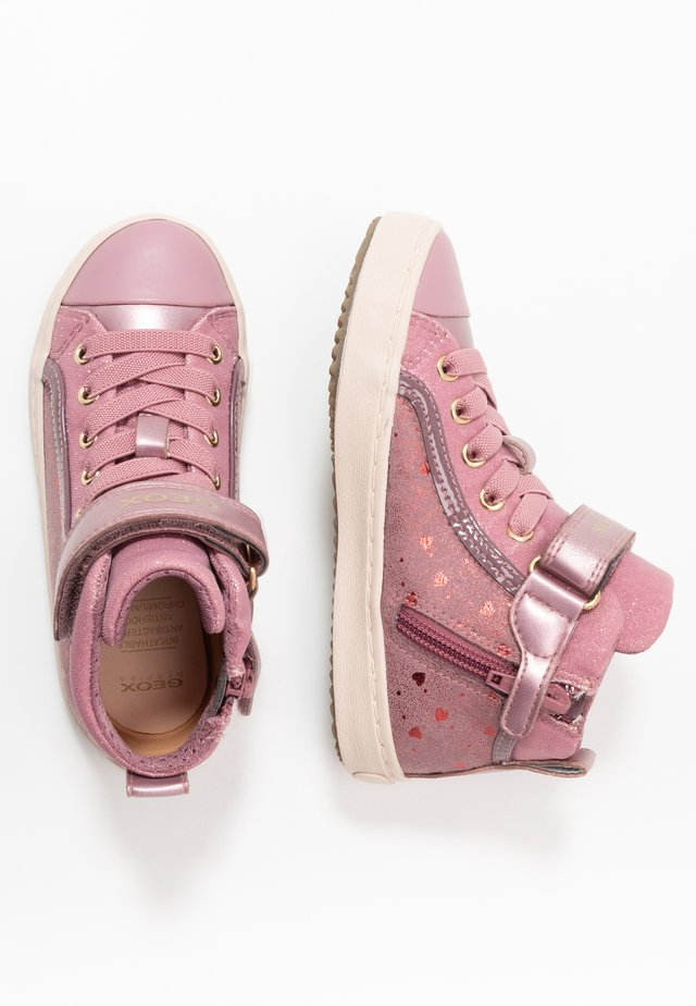 KALISPERA GIRL - Sneakers high - dark pink