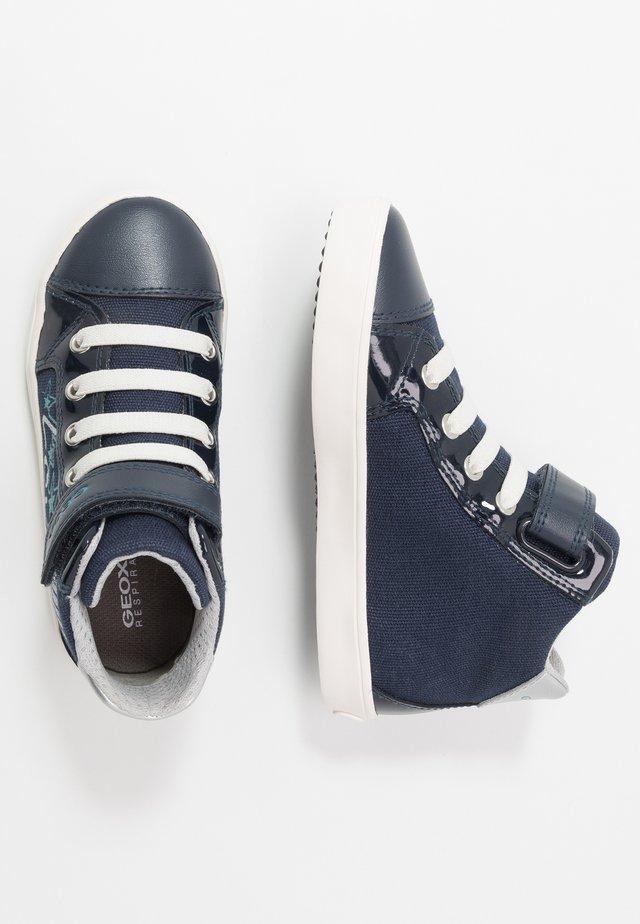 GISLI GIRL - Zapatillas altas - navy/turquoise