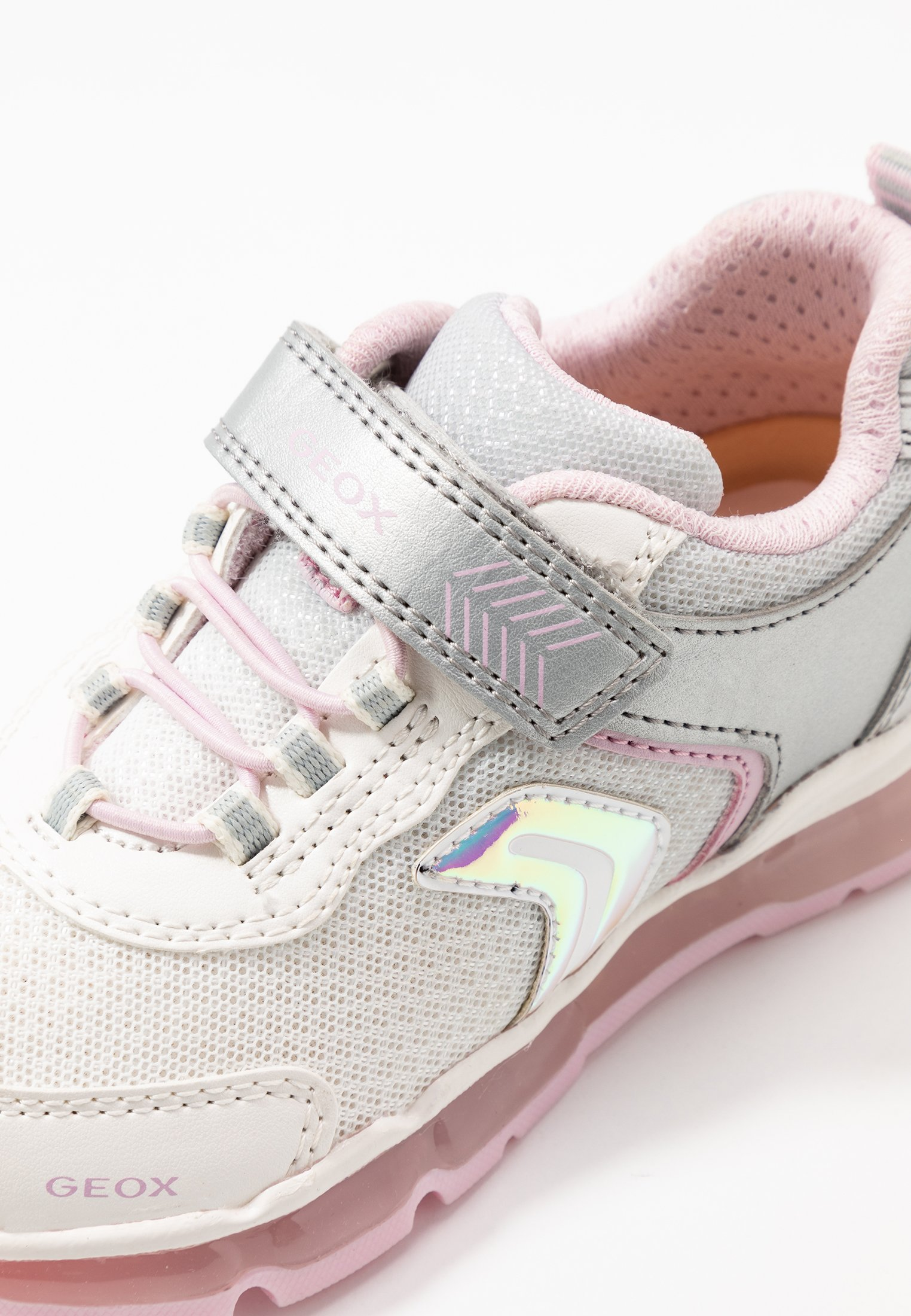 Geox GIRL - Sneakers - silver/white