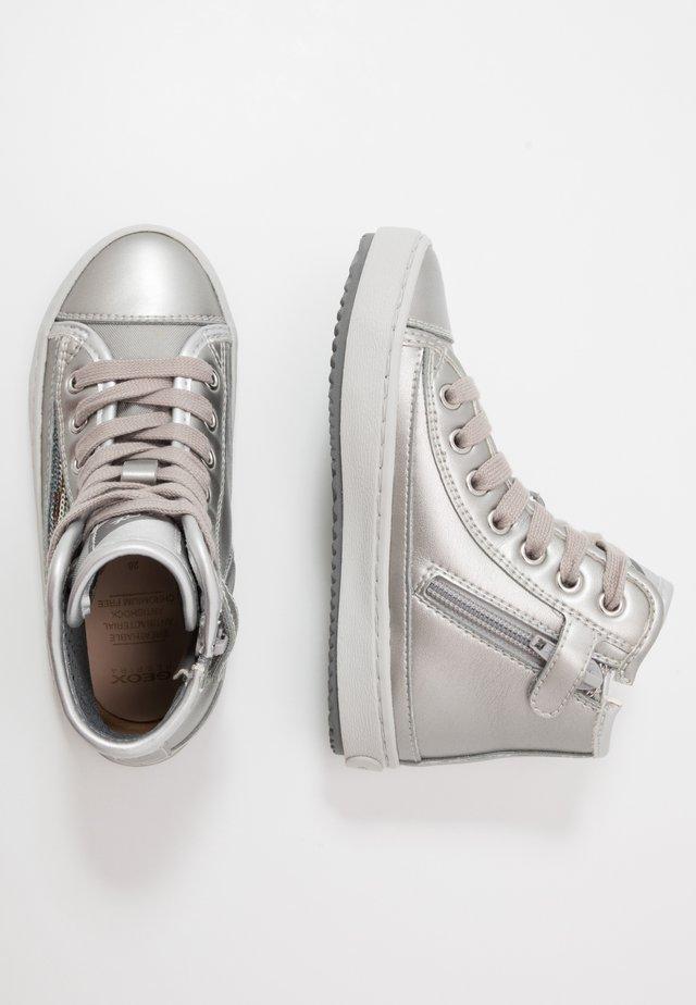 KALISPERA GIRL - Höga sneakers - dark silver