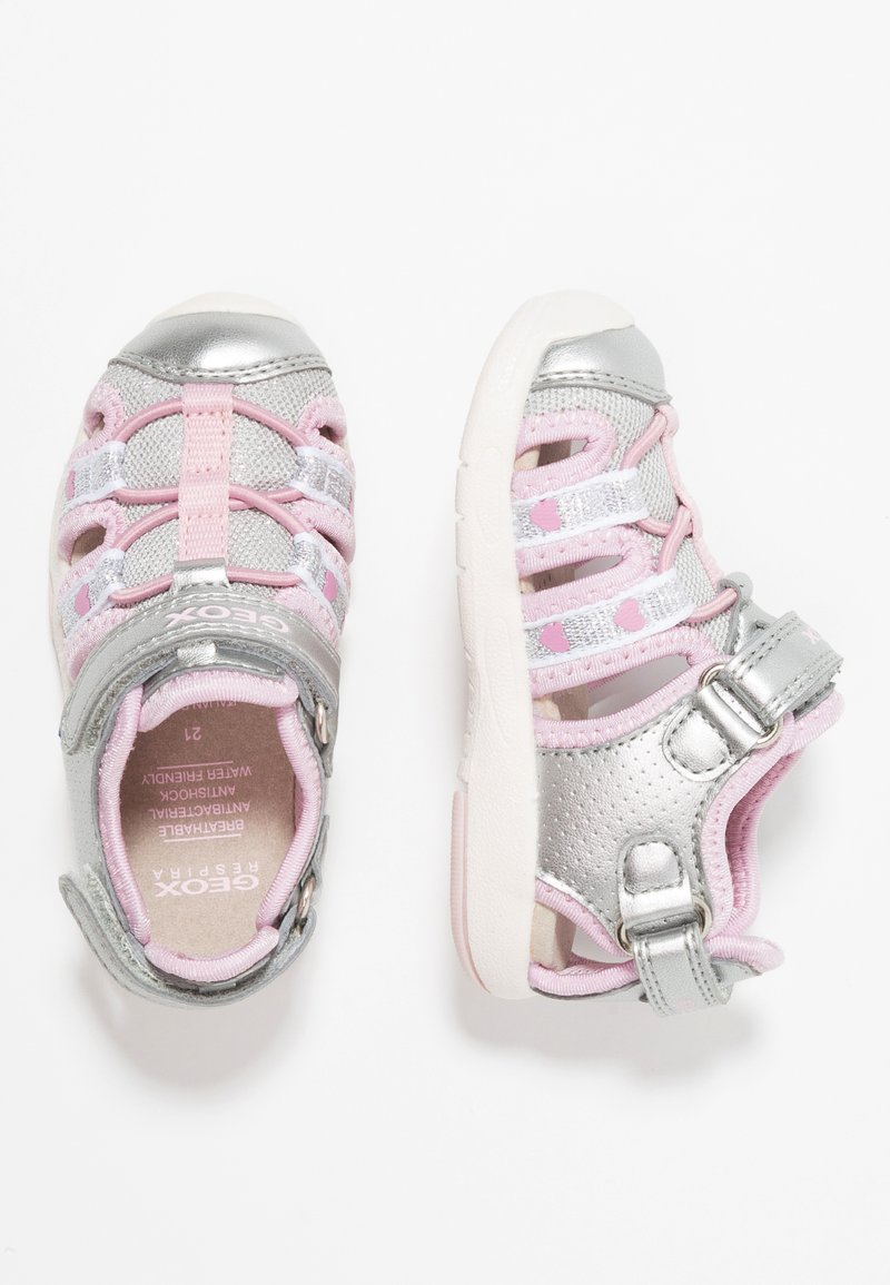 Geox - MULTY GIRL - Sandals - silver/pink
