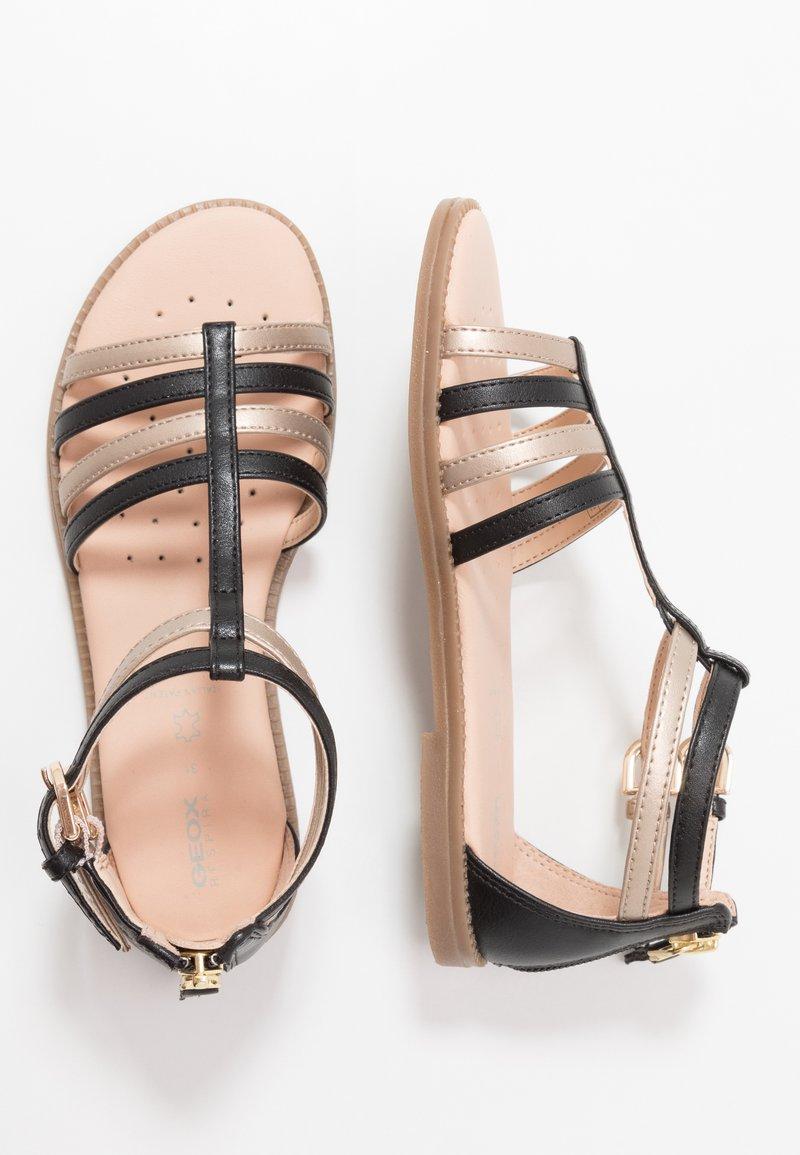 Geox - KARLY GIRL - Sandals - black/platinum
