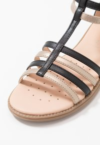 Geox - KARLY GIRL - Sandals - black/platinum - 2