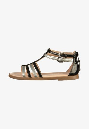 Sandals - black/silver