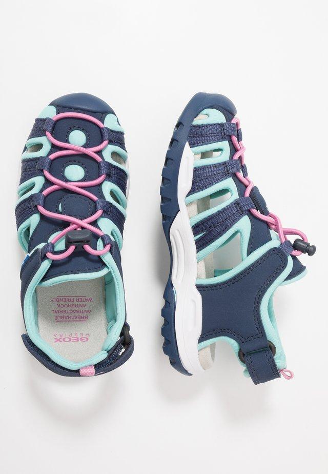 BOREALIS GIRL - Walking sandals - navy/aqua