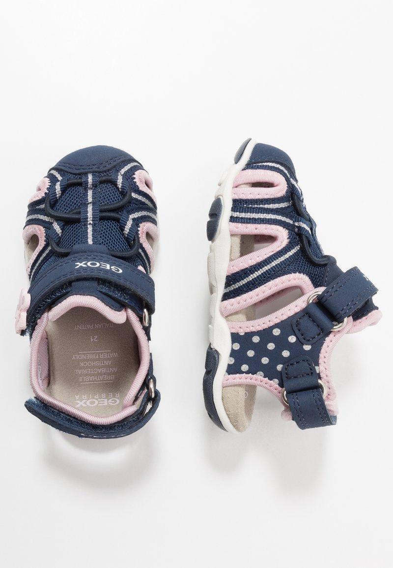 Geox - AGASIM GIRL - Sandalias - navy/pink