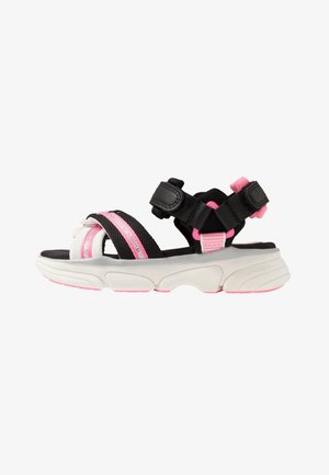 LUNARE GIRL - Sandalen - black/white