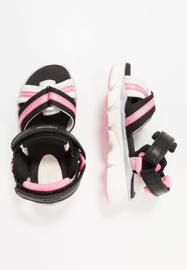 LUNARE GIRL - Sandalias - black/white