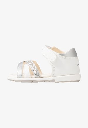 VERRED - Sandály - white/silver