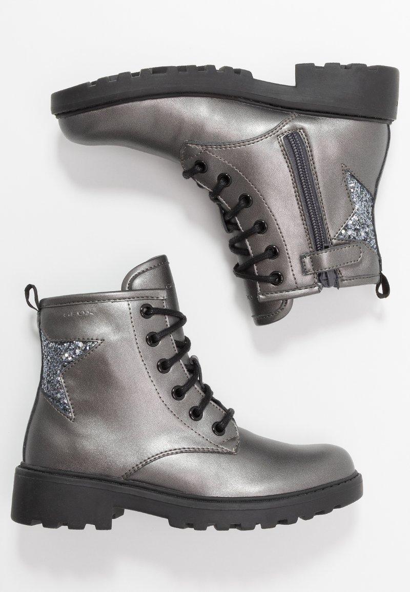 Geox - CASEY GIRL - Bottines à lacets - dark grey