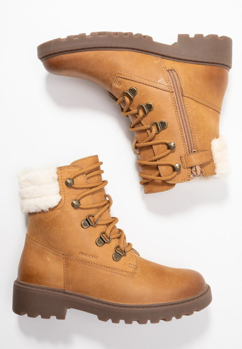 Geox - CASEY GIRL - Lace-up ankle boots - biscuit