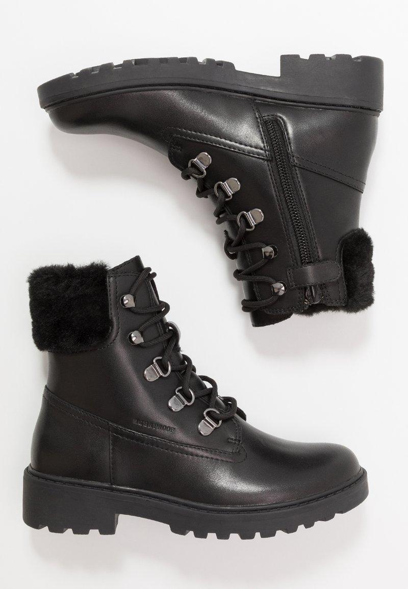 Geox - CASEY GIRL WPF - Šněrovací kotníkové boty - black