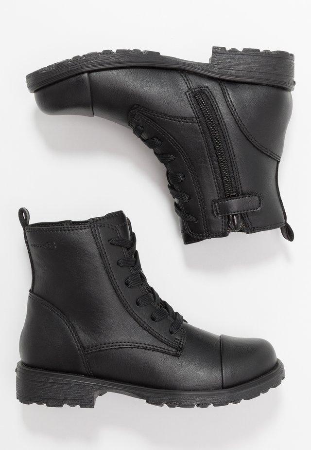 OLIVIA STIVALI GIRL - Botines con cordones - black