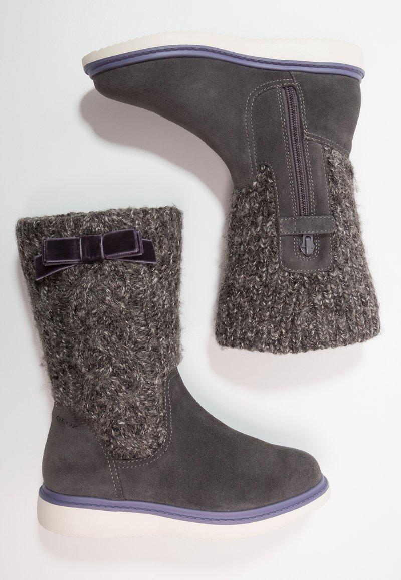 Geox - THYMAR GIRL - Støvler - dark grey