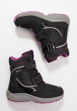 NEW ALASKA GIRL WPF - Winter boots - black/pink
