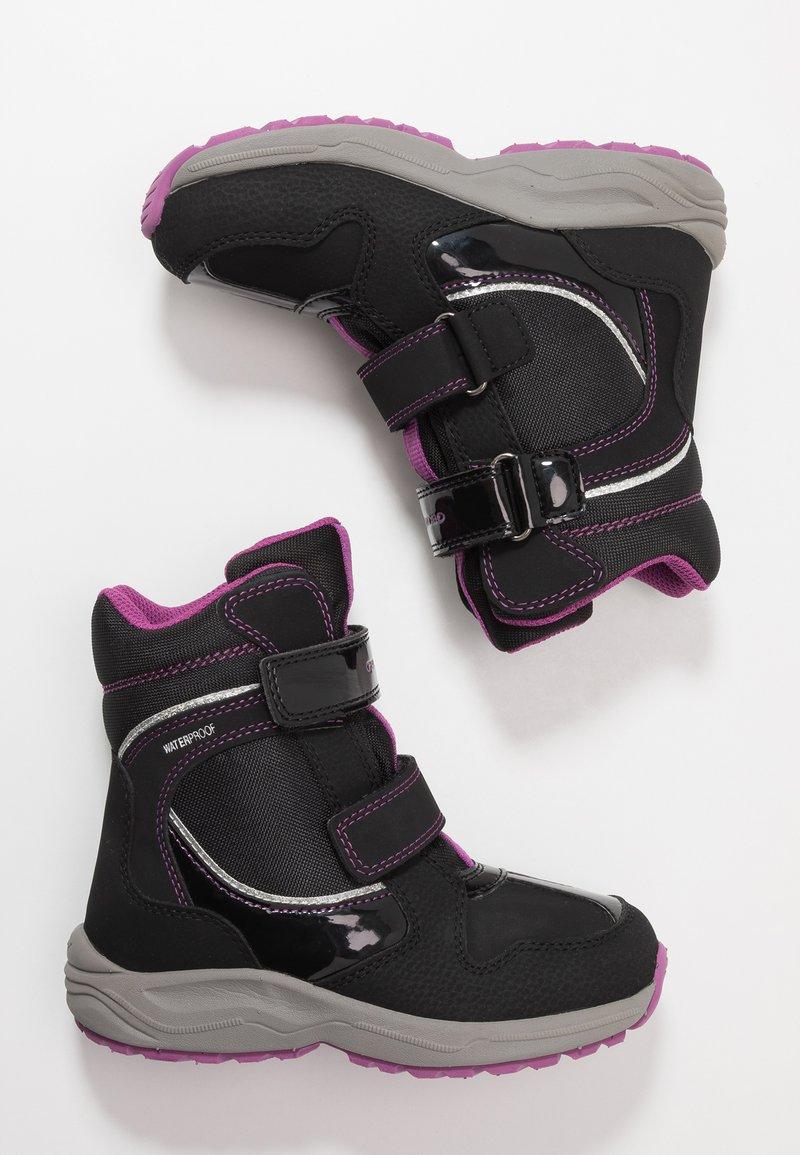 Geox - NEW ALASKA GIRL WPF - Vinterstøvler - black/pink