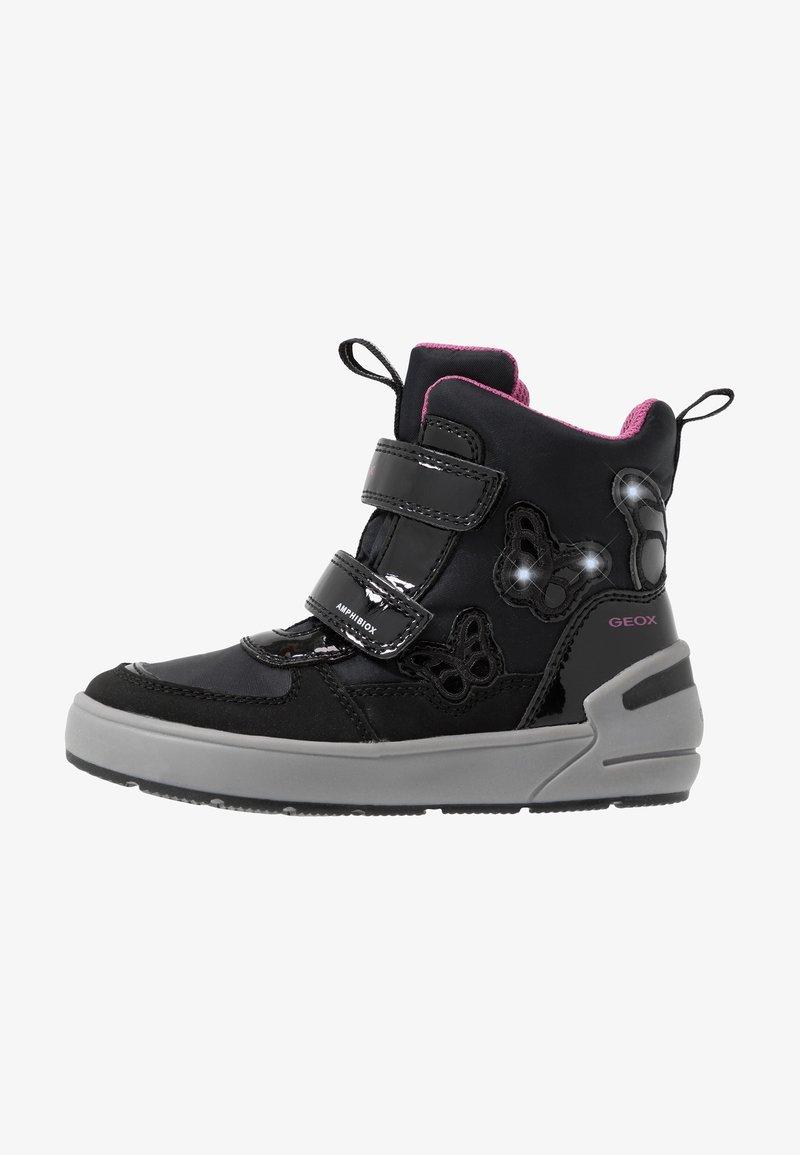 Geox - SLEIGH GIRL ABX - Stivali da neve  - black/fuchsia