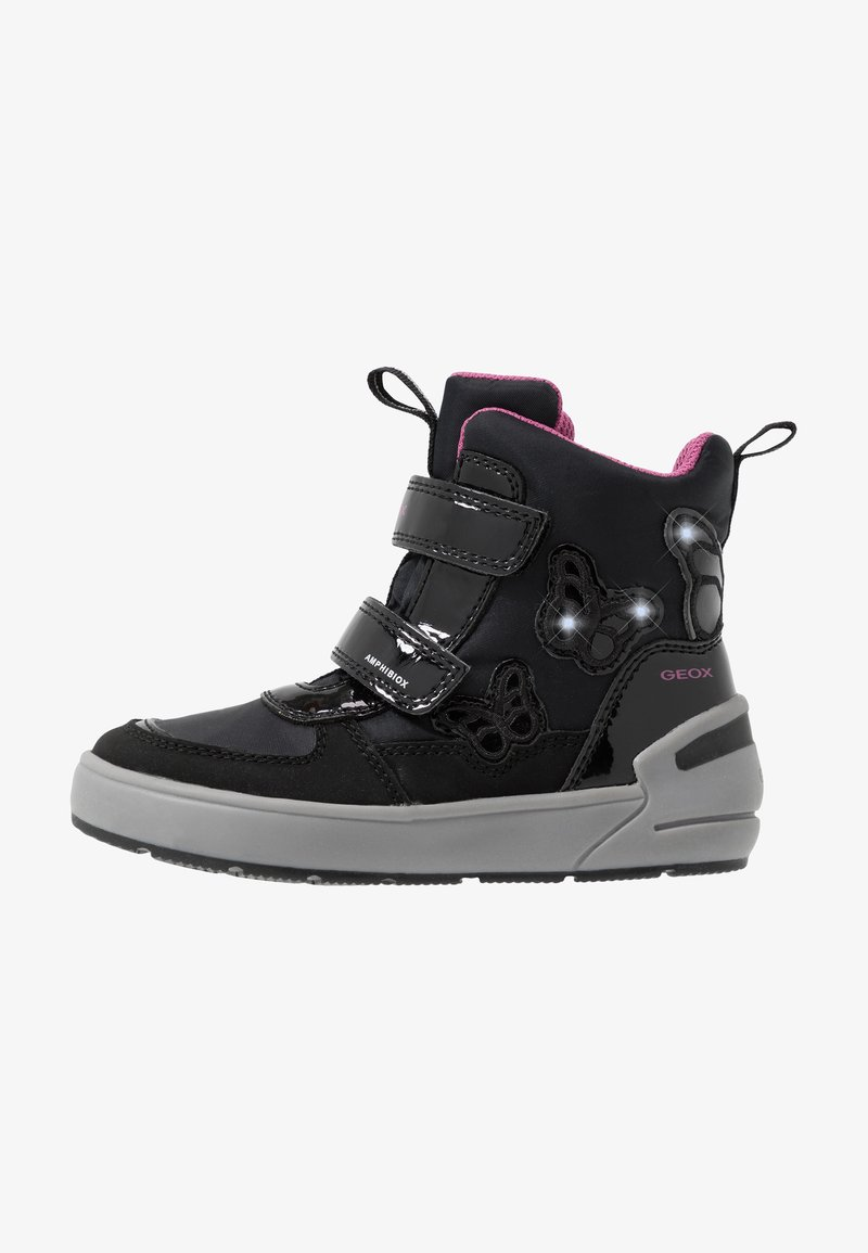 Geox - SLEIGH GIRL ABX - Winter boots - black/fuchsia