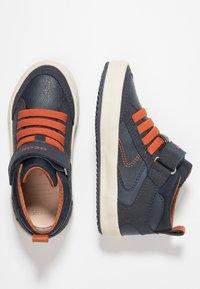 Geox - ALONISSO BOY - Sneaker high - navy/dark orange - 1