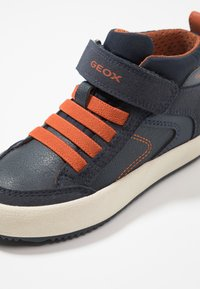 Geox - ALONISSO BOY - Sneaker high - navy/dark orange - 5