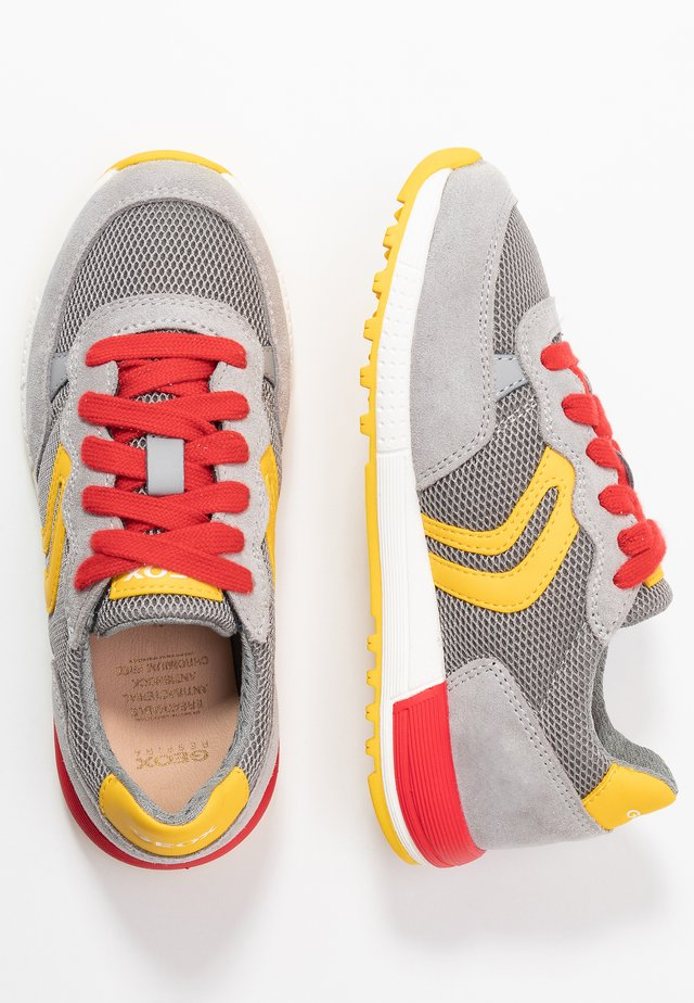 ALBEN BOY - Trainers - grey/yellow