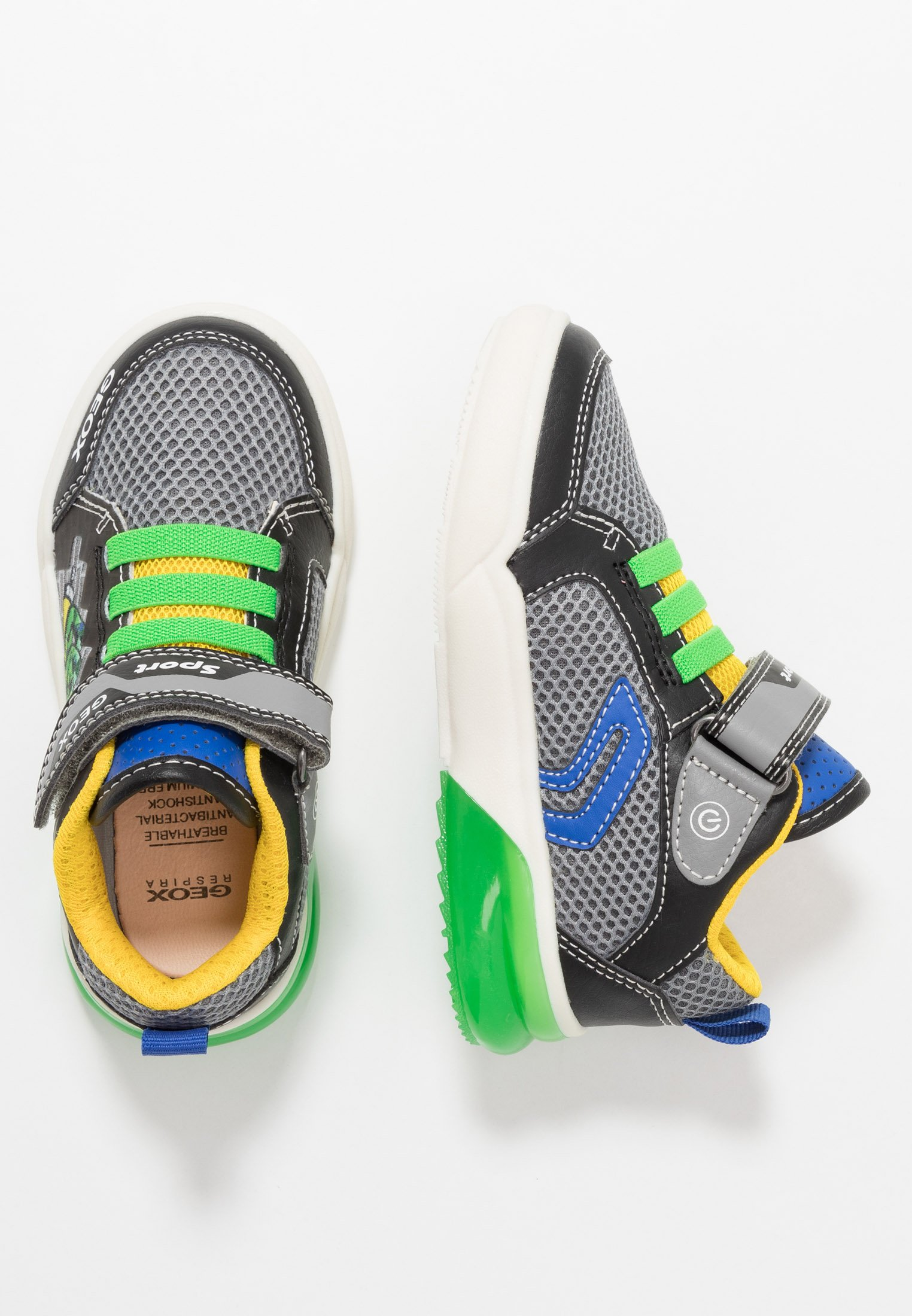 Geox GRAYJAY BOY - Sneakers high - black/green