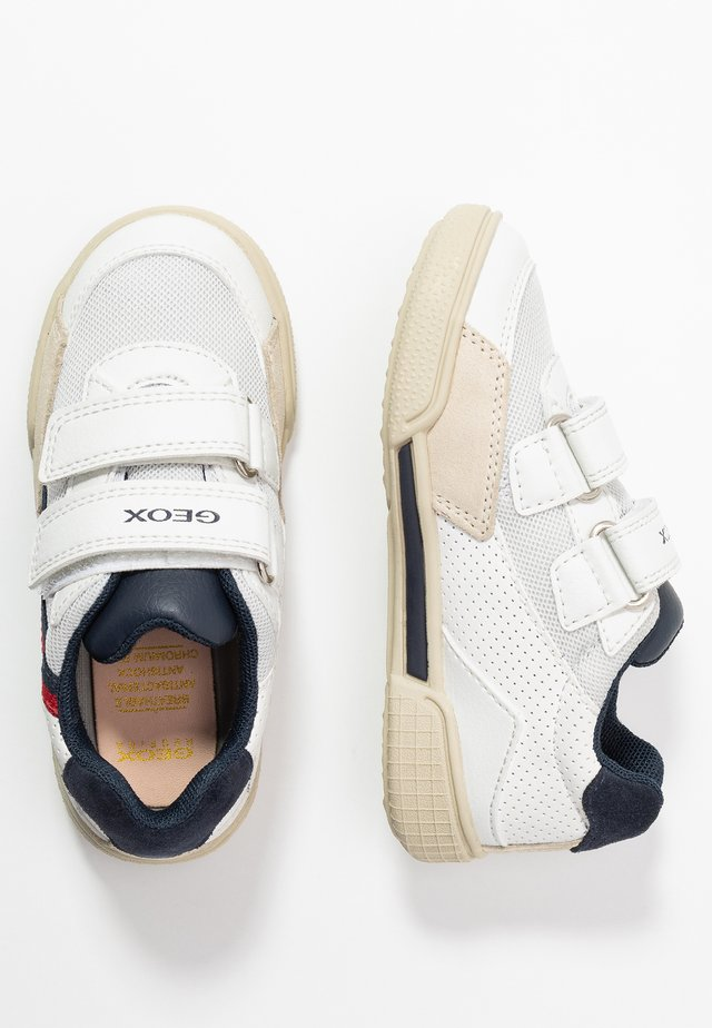 POSEIDO BOY - Zapatillas - white/navy