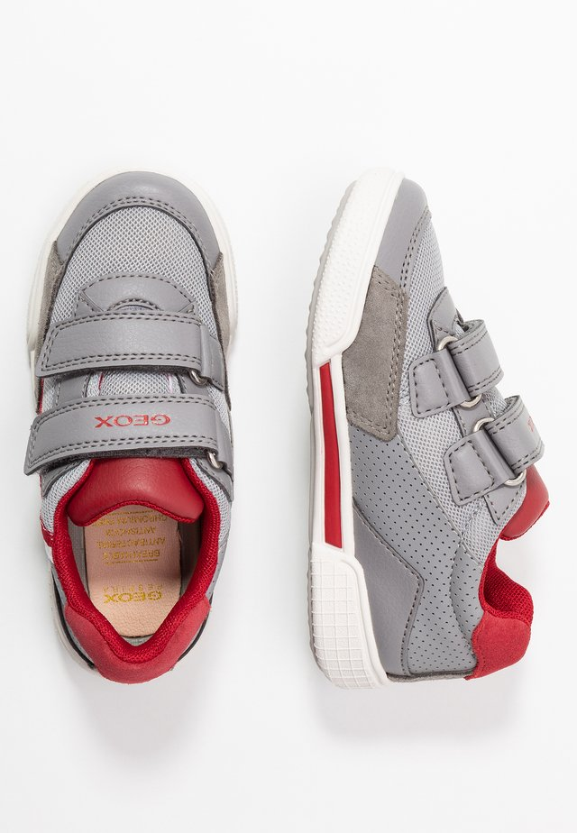 POSEIDO BOY - Zapatillas - grey/red