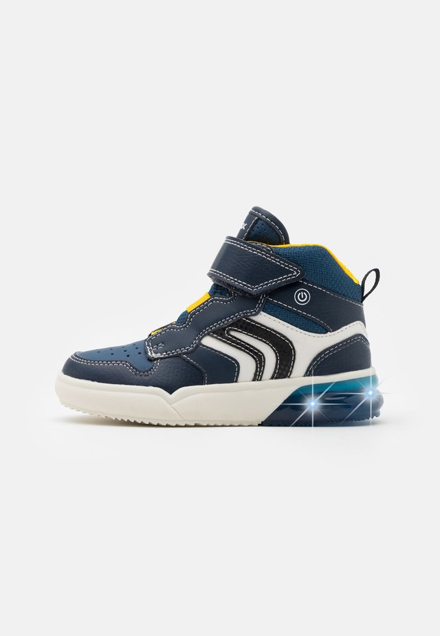 GRAYJAY BOY - Sneakers alte - navy/yellow