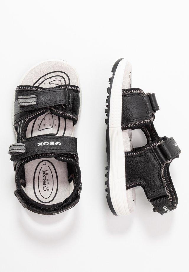 ALBEN BOY - Chodecké sandály - black/grey