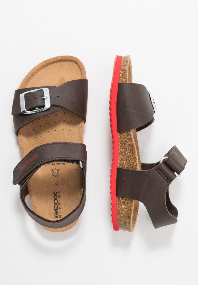 GHITA BOY - Sandalen - dark coffee