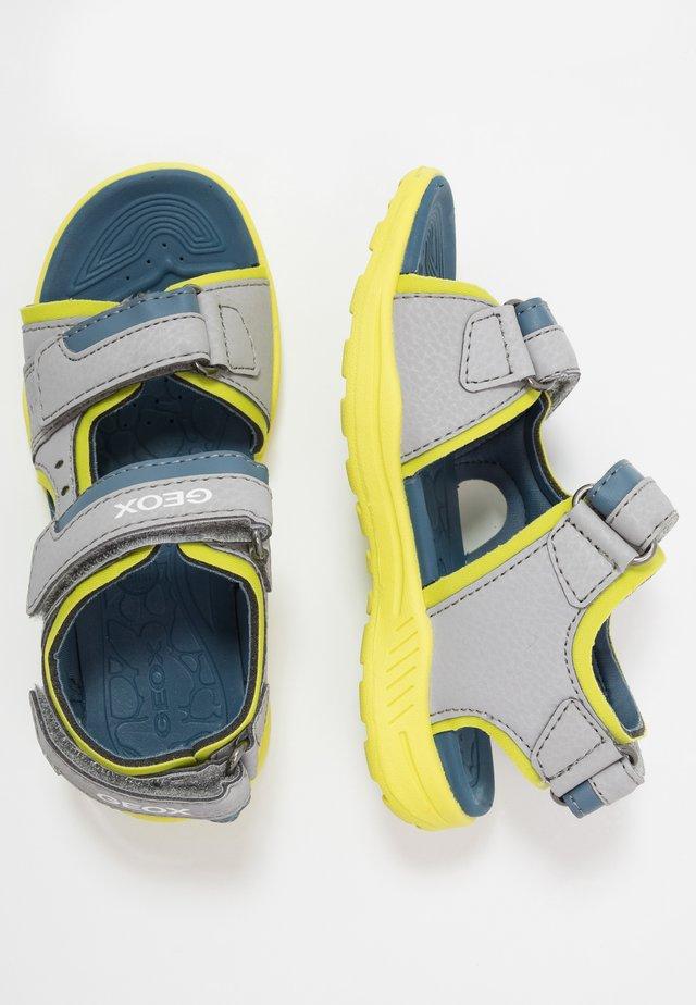 VANIETT BOY - Sandales de randonnée - grey/lime