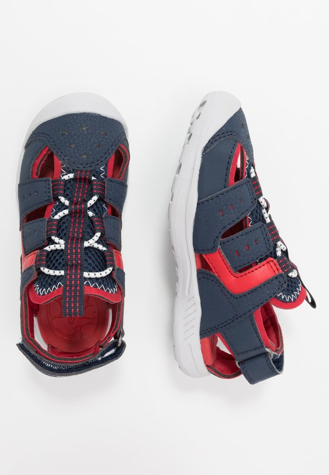 VANIETT - Walking sandals - navy/red