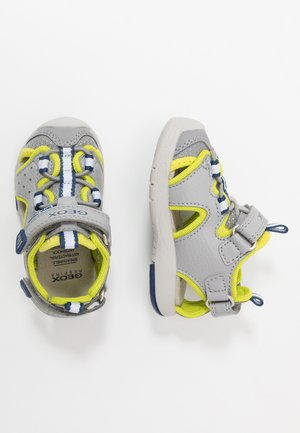 MULTY BOY - Sandalias - grey/lime green