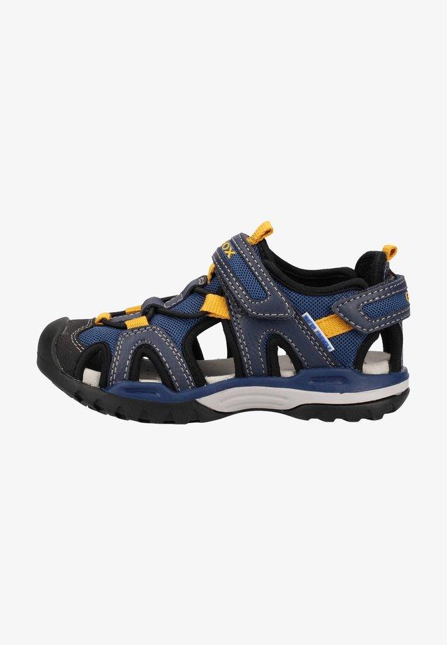 Walking sandals - navy/dk yellow