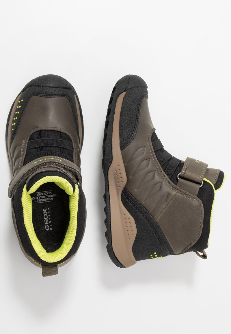 Geox - TERAM BOY - Classic ankle boots - military/lime