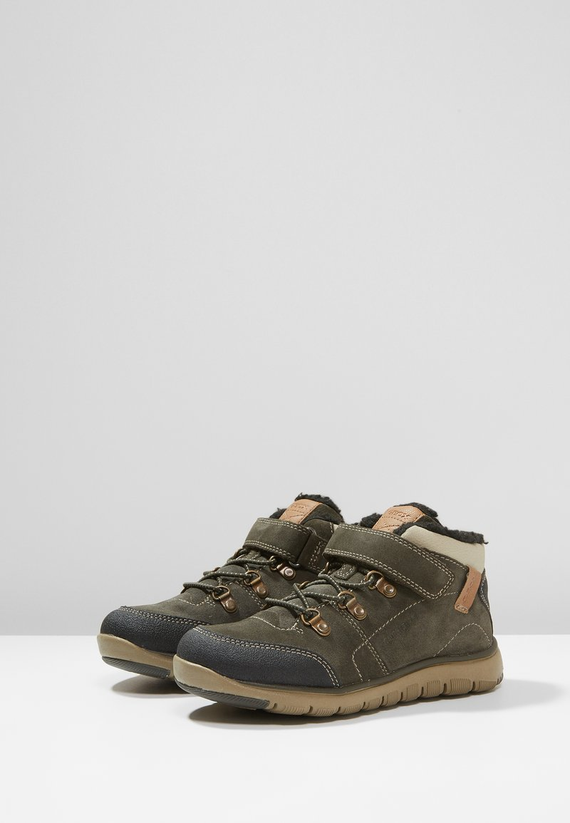 Geox - XUNDAY BOY - Lace-up ankle boots - military/beige