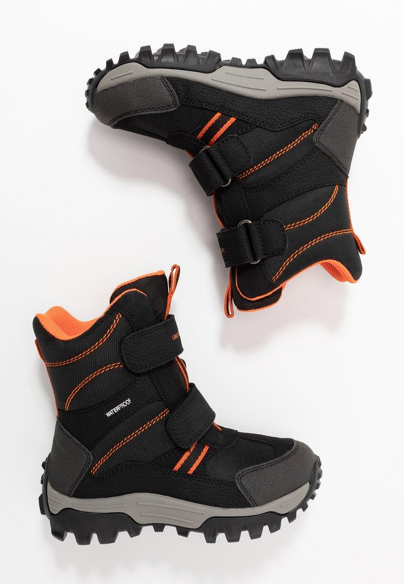 Geox - HIMALAYA BOY WPF - Snowboot/Winterstiefel - navy/orange