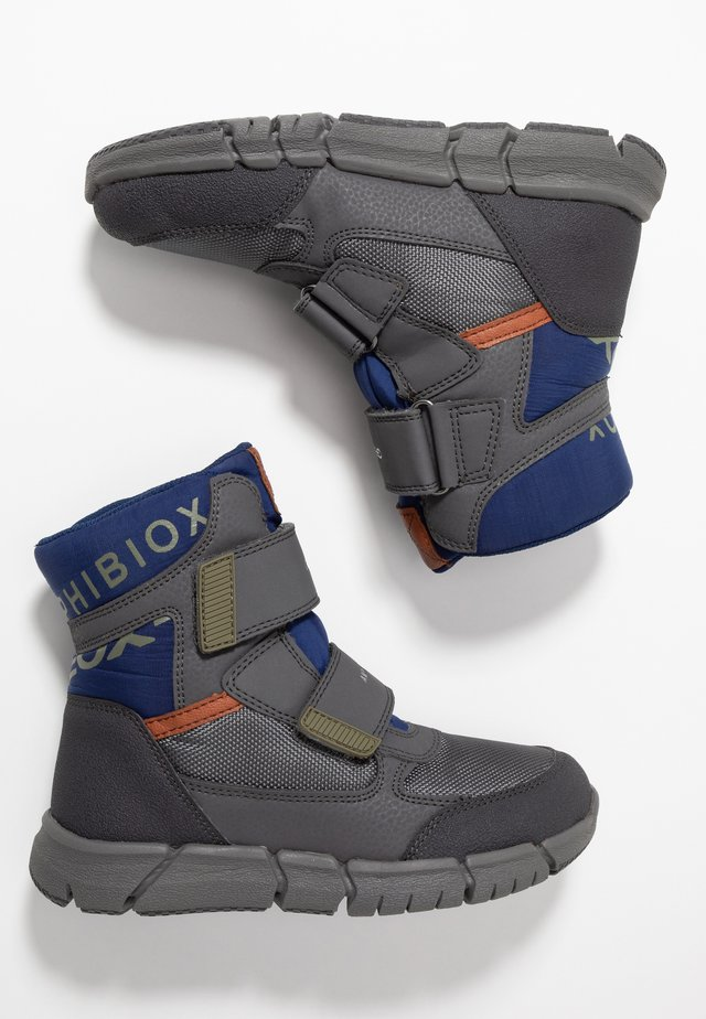 FLEXYPER BOY ABX - Talvisaappaat - dark grey/blue