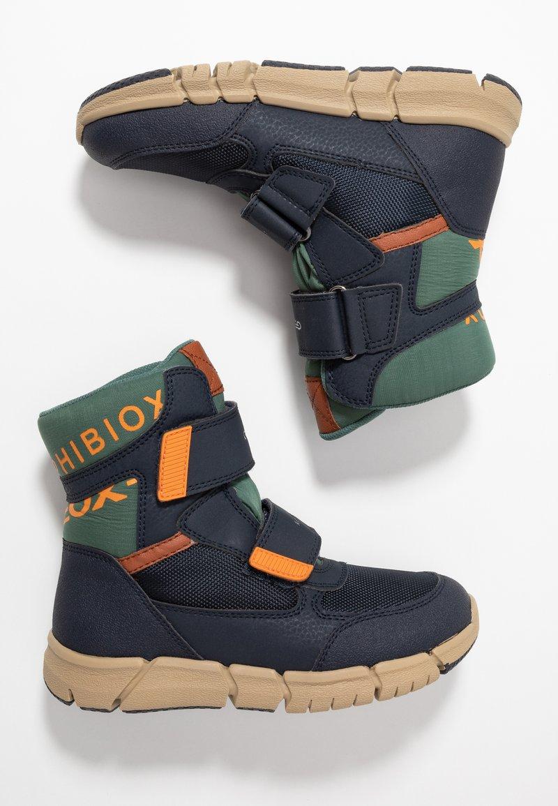 Geox - FLEXYPER BOY ABX - Snowboot/Winterstiefel - navy/orange