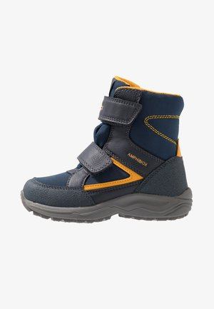 KURAY BOY ABX - Snowboot/Winterstiefel - navy/yellow